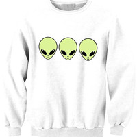 Alien 3 faces tee available in BLACK WHITE GREY sweat sweater Tumblr blanc sweatshirt tumblr size S M L pizza 5sos 1d jb swag