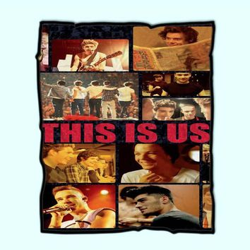 Custom Fleece Blanket One Direction This Is Us Collage Case