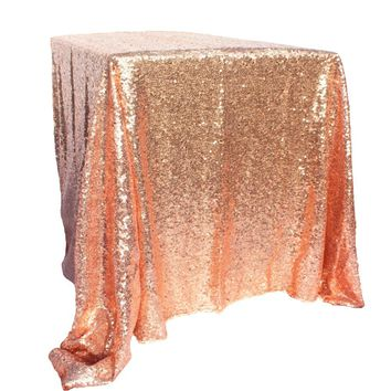 100x150cm Gold Sequin Tablecloth Rectangle Style For Wedding/Party/Banquet