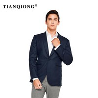 TIAN QIONG High Quality Jacket Black Blue 2018 Tailor Made Suit Jacket Slim Fit Blazers for Men Wedding Dress Mens Wool 100%