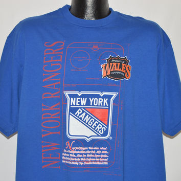 90s New York Rangers Prince of Wales t-shirt Extra Large