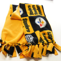 Pittsburgh Steelers Polar Fleece Infinity Scarf Kids Adults Double Layer