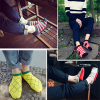 Fashion Comfortable Mens Womens Sports Ankle Socks Best Gift (5 PCS) LoveSocks-27