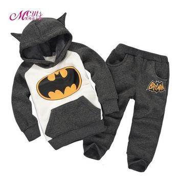 Batman Dark Knight gift Christmas New Baby Boys Girls Clothes Sets Spring Autumn Kids Batman Clothing Sport Suit Cotton Hoodies Children Sweatshirt 2 3 4 5 Years AT_71_6