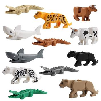 Animals Building Blocks Figures Model Crocodile Shark Educational Toys Children Gift
