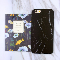 Unique Black Marble Case Cover for iPhone 6 6s Plus Gift 426