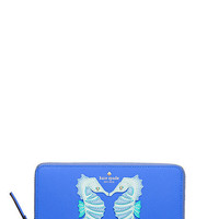 Kate Spade New York Breath of Fresh Air Seahorse Appliqué Lacey Wallet