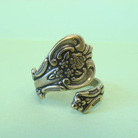 One Spoon Ring, Antiqued Brass - Style No. One