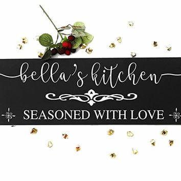 CHRISTMAS GIFT XMAS GIFTS Custom your Gift Kitchen Wall Decal - This kitchen is seasoned with love. Christmas Valentine Special gifts sign#k02