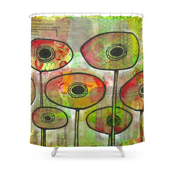 Society6 Poppies #2 Shower Curtain