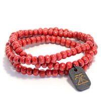 Wraparound Bracelet in Red