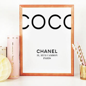 COCO CHANEL DECOR, Chanel Baby,Chanel Inspired,Coco Chanel Paris,31 Rue Cambon,Fashion Art,Fashion Print,Fashionista,Girls Room Decor,Quotes