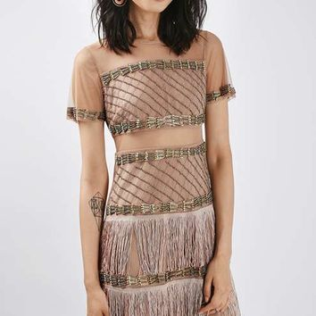 PETITE Bead Fringe Shift Dress - New In This Week - New In