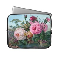 Beautiful Vintage Roses Electronics Bag Laptop Computer Sleeve from Zazzle.com