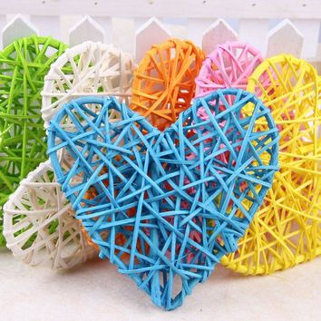 10cm Rattan ball heart vine confetti Scatter for Gift box Craft Birthday Wedding Party table centerpieces favor Decor DIY Wh