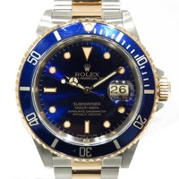 ROLEX Submariner Watch 16613 '90 Automatic Blue Stainless Steel