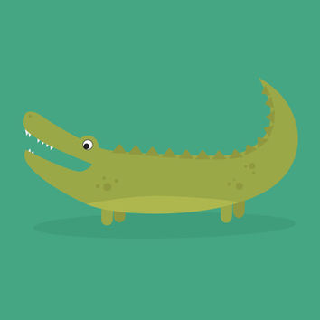 Fat Alligator Art Print by Madeline Newcomb