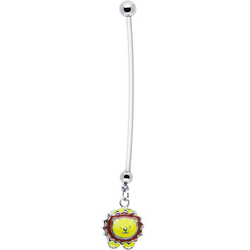 Yellow Lion Pregnant Belly Ring