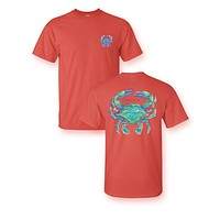 Sassy Frass Watercolor Crab Bright Girlie T Shirt