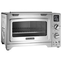 """KitchenAid KCO275SS 12"""" Stainless Steel Digital Countertop Convection Oven with Interior CeramaShield Coating - 120V, 1800W"""
