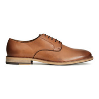 Leather Derby Shoes - from H&M
