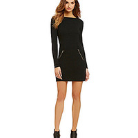 Michael Stars Ottoman Mini Dress - Black