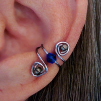 "No Piercing Cartilage Ear Cuffs Conch Cuff ""Labyrinth"" Helix Conch Tragus Color Choices"