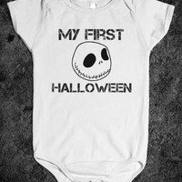 My First Halloween Jack Skellington Onesuit