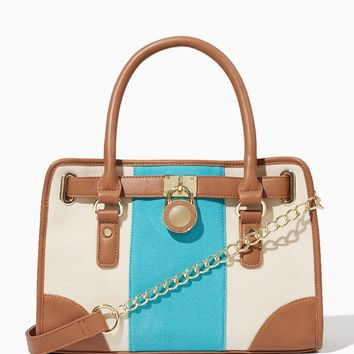Riviera Canvas Satchel | Handbags | charming charlie