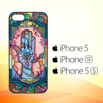 Hand Mandala Singleton Hippie X0147  iPhone 5|5S|SE Case