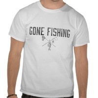 Gone Fishing Vintage T Shirts from Zazzle.com