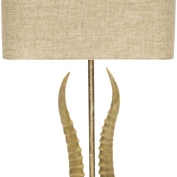 Saiga Novelty Table Lamp Antique Tan