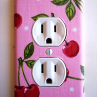 Pink Cherry Outlet Plate