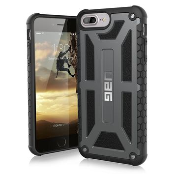 UAG iPhone 8 Plus / iPhone 7 Plus / iPhone 6s Plus [5.5-inch screen] Monarch Feather-Light Rugged [GRAPHITE] Military Drop Tested iPhone Case