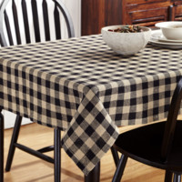 Burlap Black Check Table Cloths