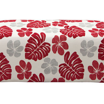 Scarlett Rectangular Ottoman In Patterned Fabric
