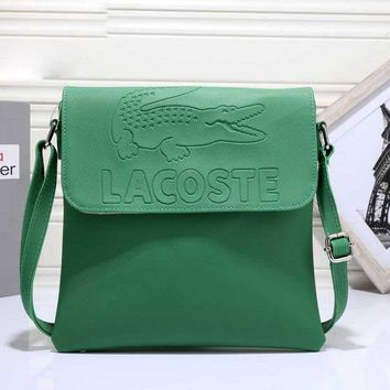 LACOSTE  Women Shopping Leather Crossbody Satchel Shoulder Bag H-MYJSY-BB