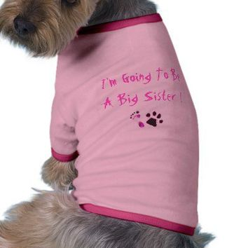 foot and paw pink, I'm Going To Be A Big Sister ! Dog Clothing from Zazzle.com