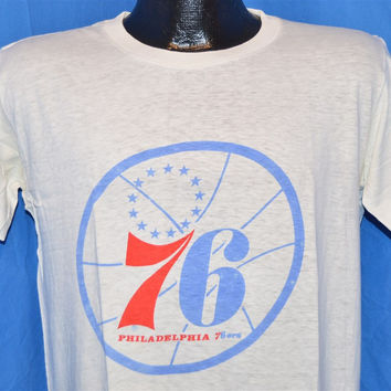 70s Philadelphia 76ers George McGinnis Let George Do It t-shirt Medium