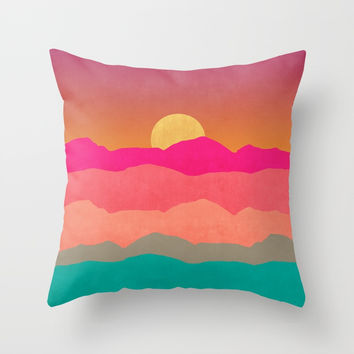 Minimal Landscape 13 Throw Pillow by marcogonzalez
