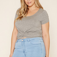 Plus Size Twist-Hem Tee