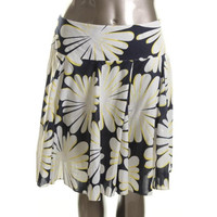 INC Womens Cotton Floral Print A-Line Skirt