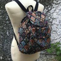 Backpack Boho Tribal Bags Art Aztec Woven Hippies Tapestry Ethnic Rucksack Hipster Aztec Gypsy Nepali Patterns Purse Native Design Fashion