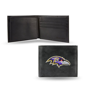 Baltimore Ravens Embroidered Billfold Wallet