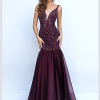 Plunging V-Neckline Sherri Hill Formal Prom Gown 11324