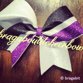 Three color glitter bow. Can be made in different color combinations.