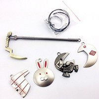 Charm Gift Tokyo Ghoul Cosplay Weapon Necklace 5 Pcs One Set