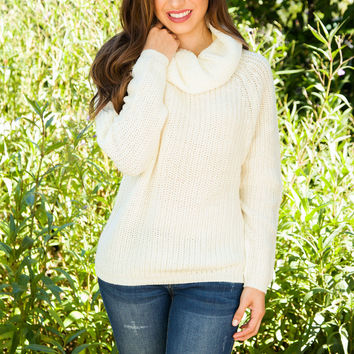 Justice Knit Sweater - Ivory