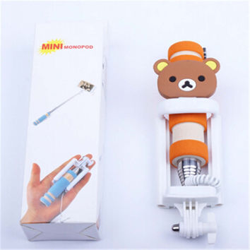 So Cute Bear Mini Pocket Selfie Stick for Any Phone