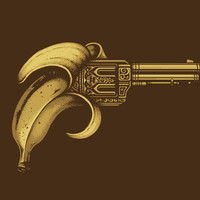 Banana Gun Art Print by Enkel Dika